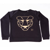 Sweater black and gold panther Men