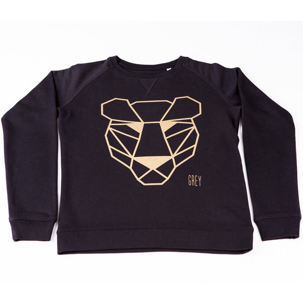 Sweater black and gold panther Kids