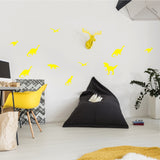 Dinosaurs Wall Stickers Yellow
