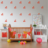 Cherry Wall Stickers Red