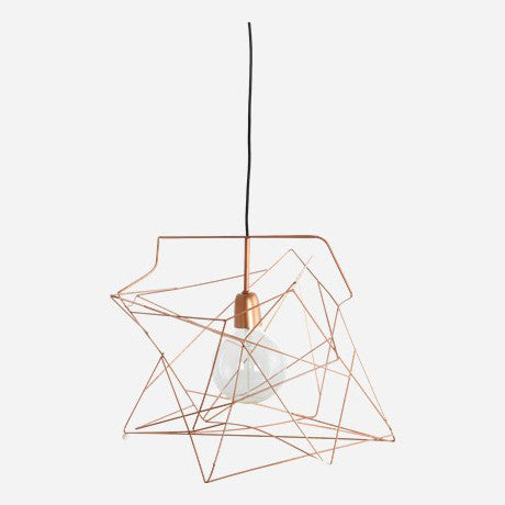 Lamp shade Asymmetric shiny copper