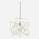 Lamp shade Asymmetric shiny gold