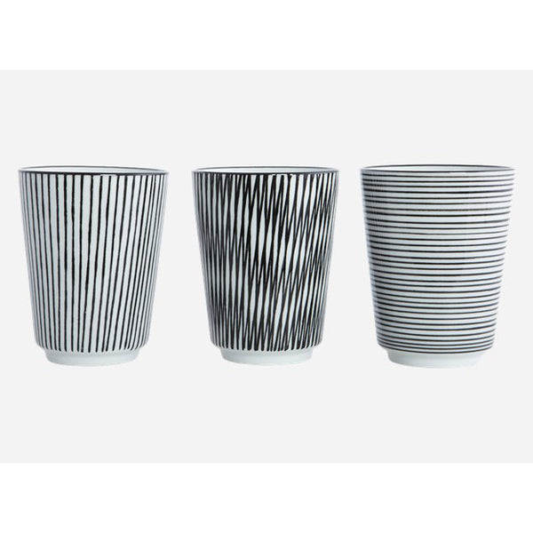 Mug pen stripe set of 3