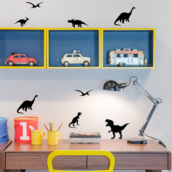 Dinosaurs Wall Stickers Black