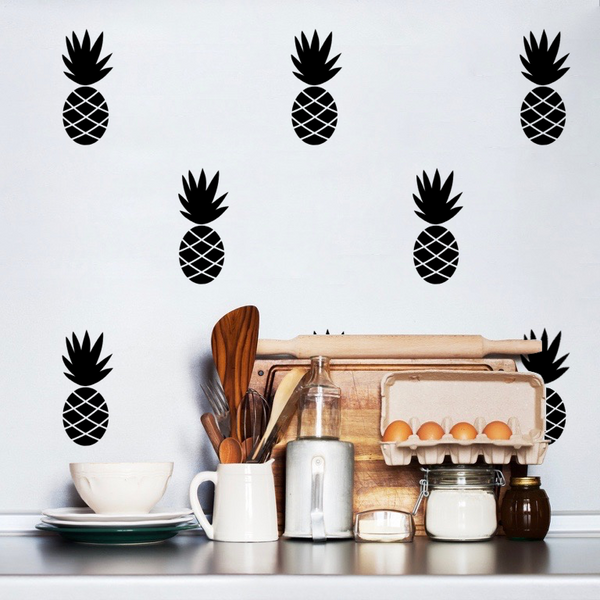 Pineapple Wall Stickers Black