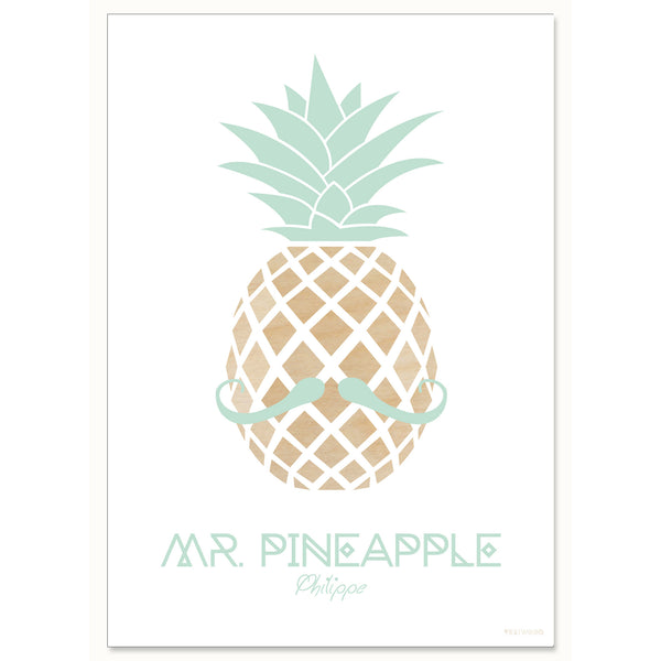 MR. PINEAPPLE – Philippe, A4 print
