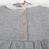Heather grey baby dress
