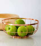 Fruit Basket Open Grid Copper