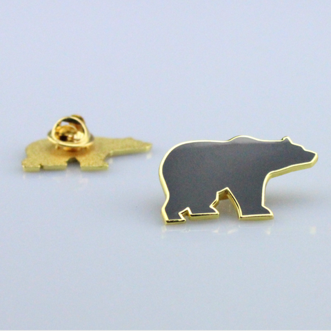 Bear Pin Black