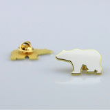 Bear Pin White