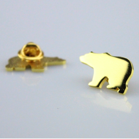 Bear Pin Gold