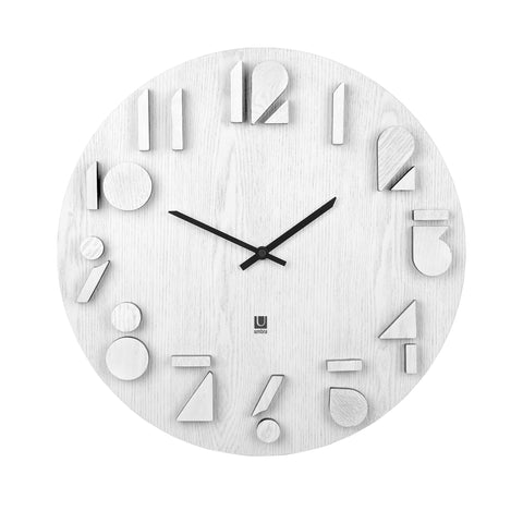 Shadow Wall Clock White