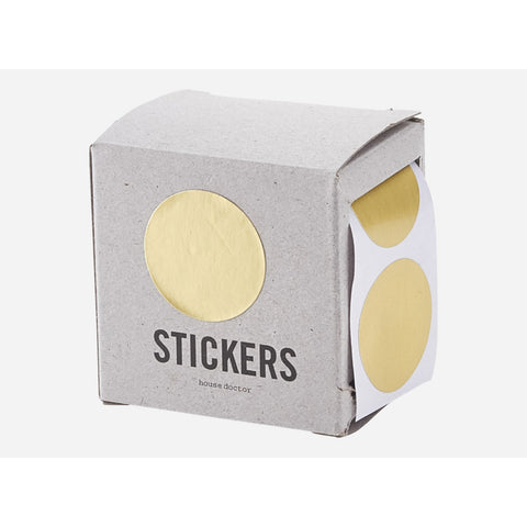 Stickers gold circle