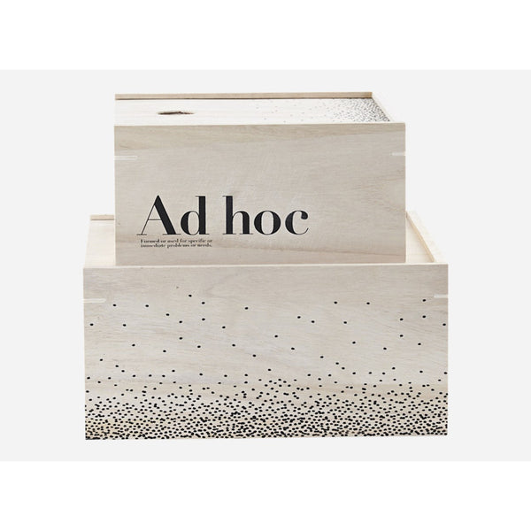 Storage boxes, set of 2, Ad hoc