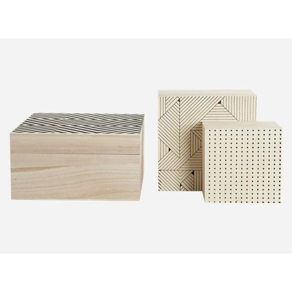 Storage boxes set of 3 sizes/prints