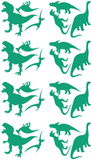 Dinosaurs Wall Stickers Green