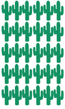 Cactus Wall Stickers Green