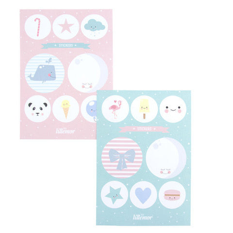 Stickers Eef Lillemor Sea Blue / Rosa
