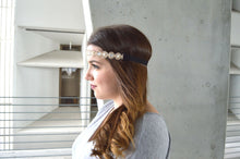 Load image into Gallery viewer, Flower Lace Embroidery Stretch Headband