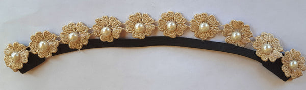 Flower Lace Embroidery Stretch Headband