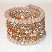 Load image into Gallery viewer, Cream Starlight Gold Czech Crystal Bracelet