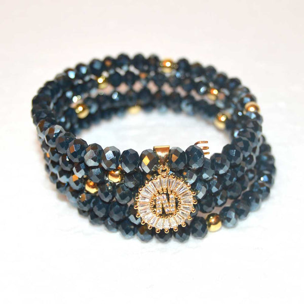 Dark Indigo Wrap Around Bracelet