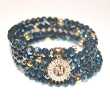 Load image into Gallery viewer, Dark Indigo Wrap Around Bracelet