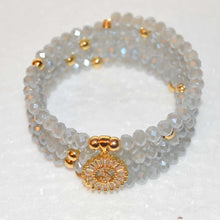 Load image into Gallery viewer, Mystic Gray Crystal Bracelet