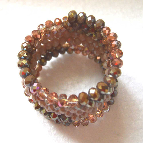 Various shades of Rose Memory Wire Bracelet