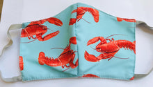 Load image into Gallery viewer, Lobster Washable Fabric Face Mask