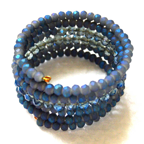 Capri Blue and Opal Blue Crystal Bracelet