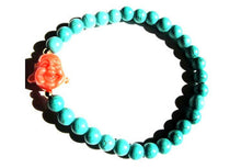 Load image into Gallery viewer, Turquoise Buddha Bracelet
