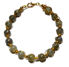 Load image into Gallery viewer, Labradorite Wire Wrapped Gold-filled Bracelet