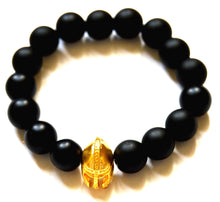 Load image into Gallery viewer, Gladiator Onyx Bead Bracelet
