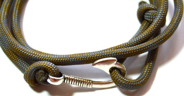 Men Desert Foliage Wrap Hook Bracelet