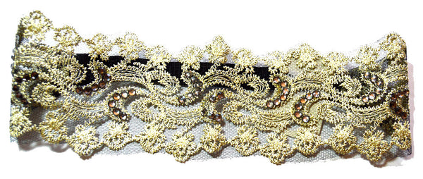 Bling Lace and Crystals Stretch Headband