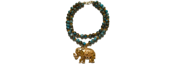 Stunning Extra Large Elephant Pendant Necklace
