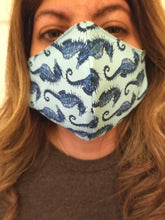 Load image into Gallery viewer, Seahorse Washable Fabric Face Mask Beautiful Model