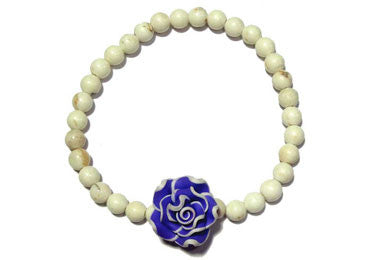 Girls Blue Mini Rose Bracelet