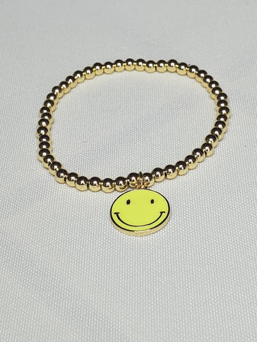Happy Face Gold-filled Bracelet