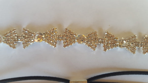 Bling Mini Bows Rhinestone Headband