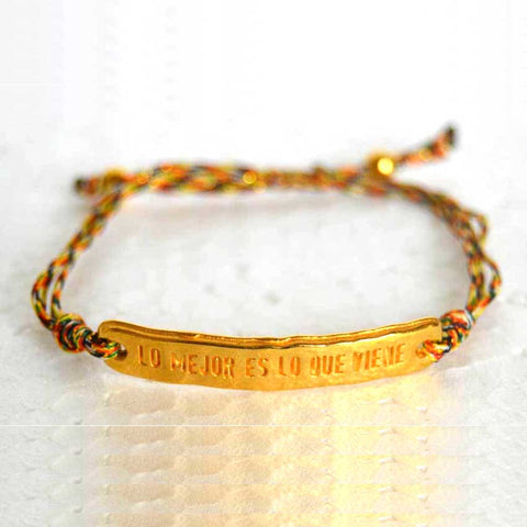 Positive Message String Bracelet