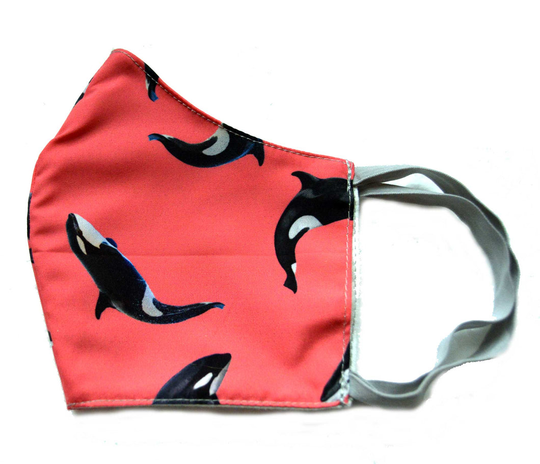 KIller Whale Washable Fabric Face Mask