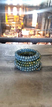 Load image into Gallery viewer, Peacock Green Memory Wire Bracelet at Hagia Sophia Istanbul Turkey