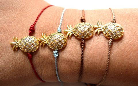 String Pineapple Bracelet