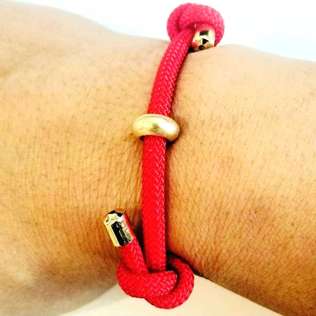 Red Double Knotted Bracelet