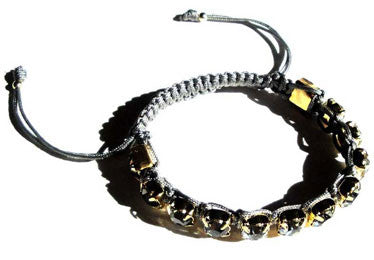 Rhinestone Bracelet accentuated by Black Diamond Swarovski Crystals