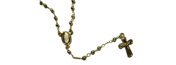 Gold-filled Long Rosary Necklace