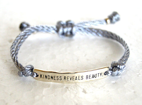 Positive Affirmation String Bracelet