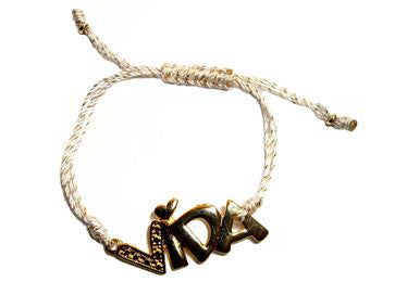 'Vida' Gold-filled Charm String Bracelet